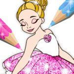 Ballerina Coloring Book Glitter – Girl Games 1.0.4.0 APK MOD Unlimited Money