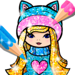 Girls Coloring Book for Kids Glitter 1.1.6.2 APK MOD Unlimited Money
