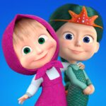 Masha and the Bear Kids games APK MOD Unlimited Money